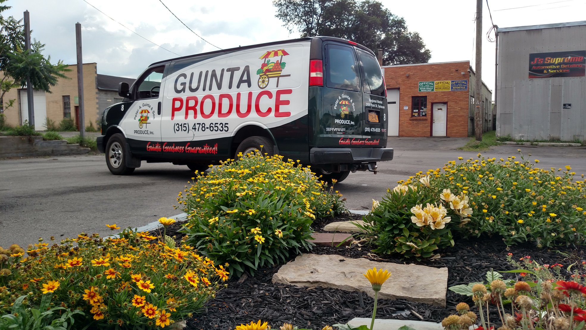 Partial van wrap vinyl advertising on Chevy Savana