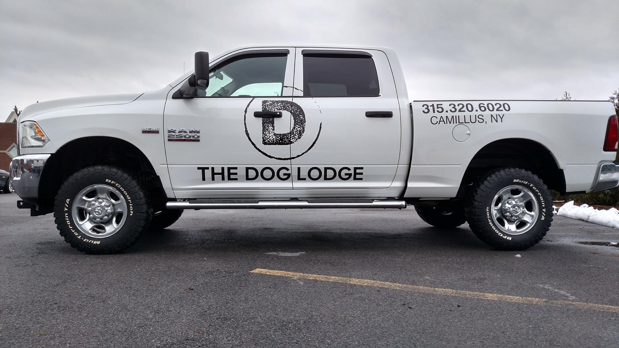 Custom Dodge ram extended cab vinyl graphics