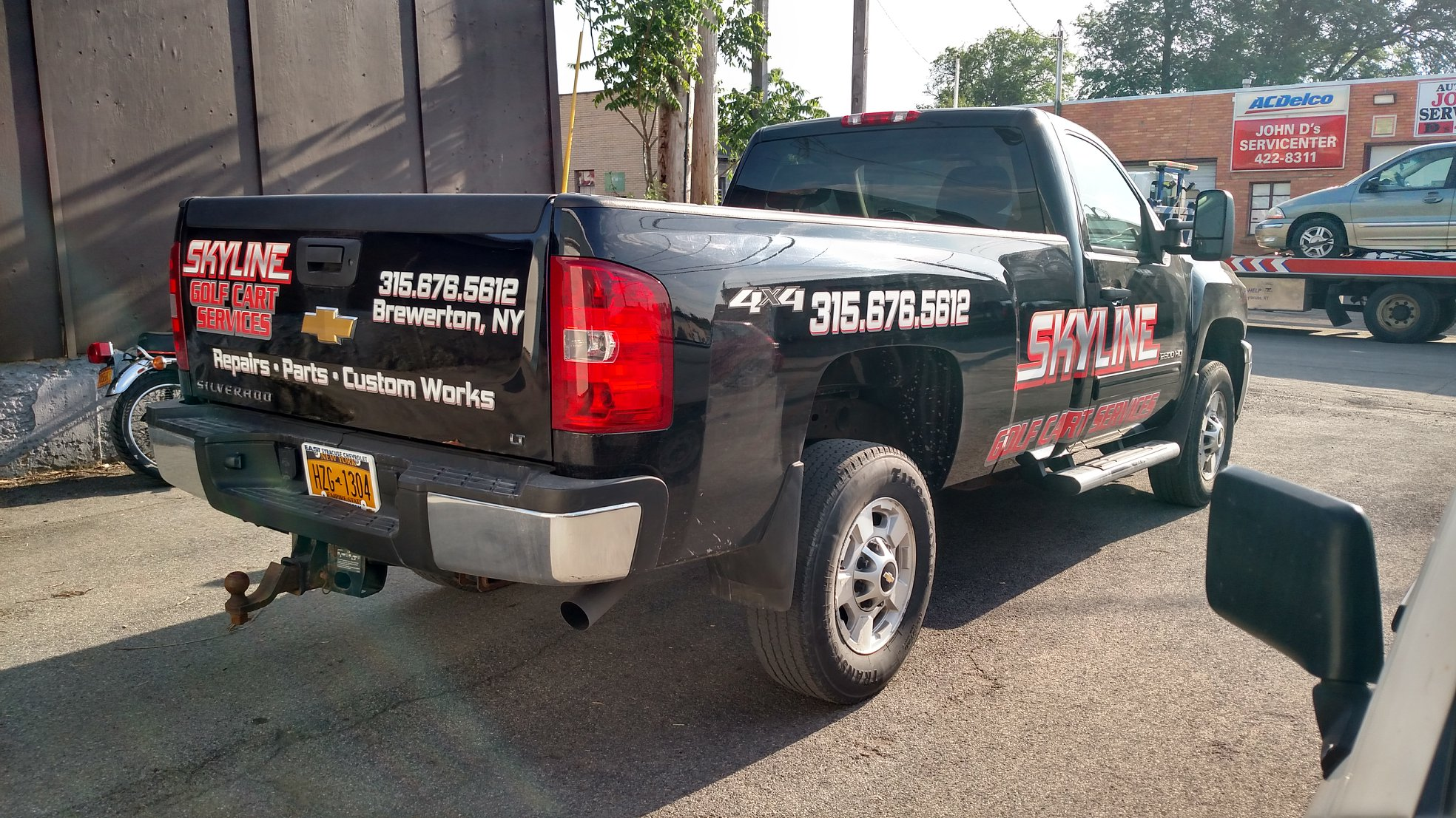 Chevy silverado truck custom advertising