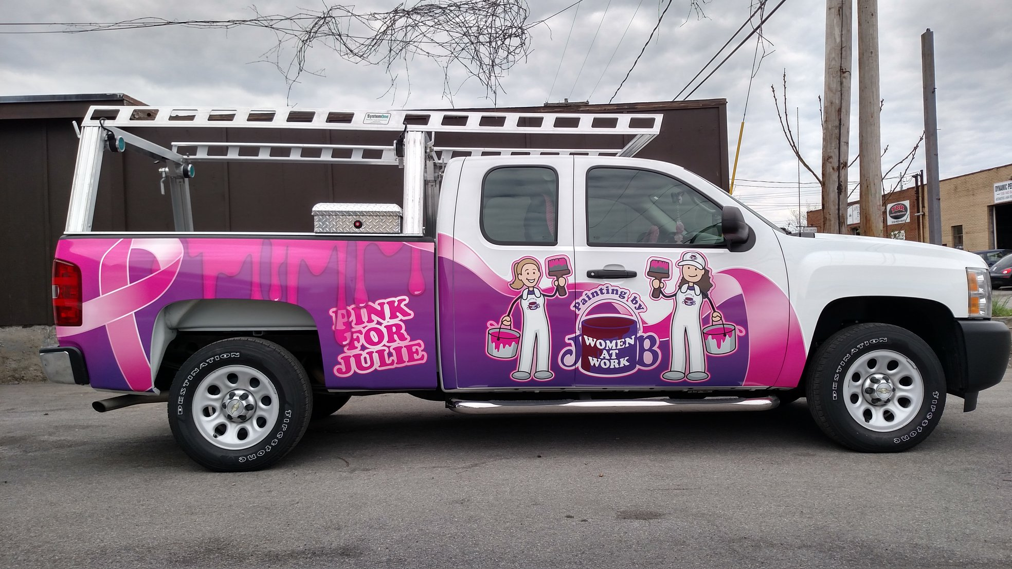 Custom printed truck wrap