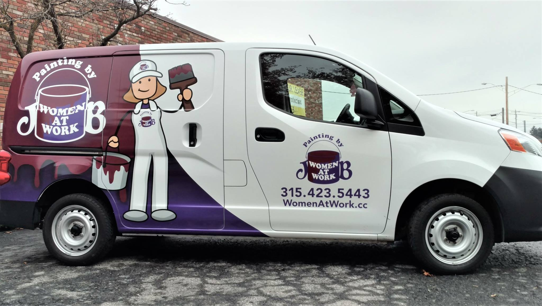 Custom printed van wrap for local painting company