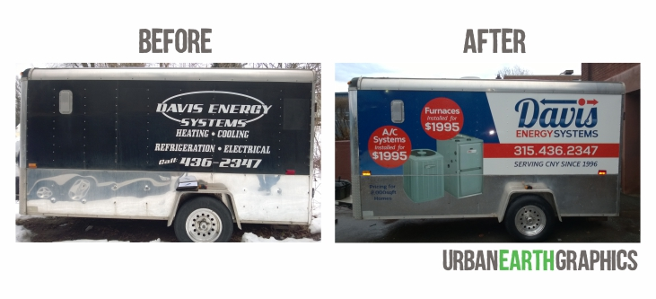 Before and After - Full Logo Design and trailer Wrap
