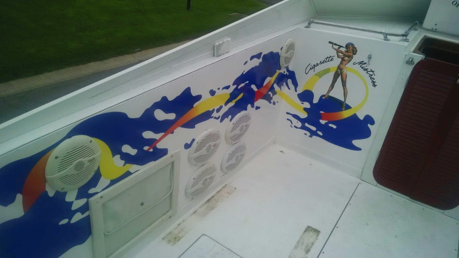 Vinyl Decals on Boat Interior