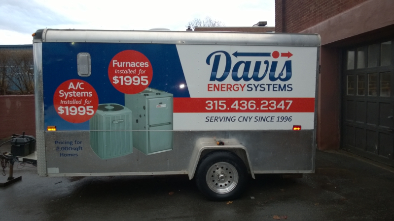 Enclosed Trailer with Custom Graphics