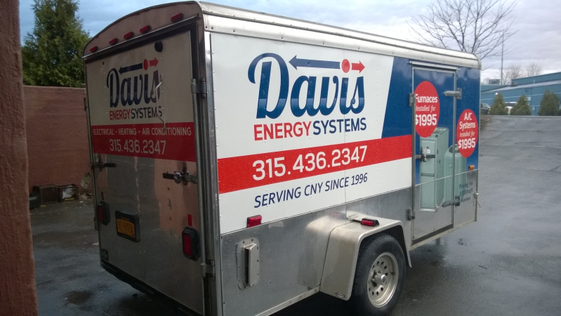 Heating and AC Installation Logo Design and Wrap